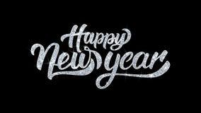 La bonne année souhaite des salutations de particules, invitation, fond de célébration illustration libre de droits
