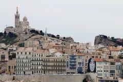 La Bonne Mère från det medelhavs-, Marseille, Frankrike Royaltyfri Fotografi
