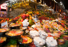 La Boqueria in Barcelona. The main market in barcelona call La Boqueria Stock Photography