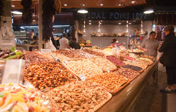 La Boqueria in Barcelona Royalty Free Stock Photos