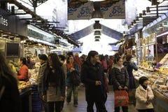 People buy the market La Boqueria. People buy the market 'La Boqueria stock photos