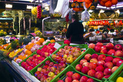La Boqueria - famous market in Barcelona Royalty Free Stock Images