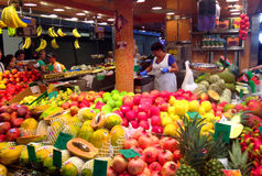La boqueria market in Barcelona Royalty Free Stock Images