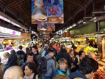 La Boqueria market in Barcelona Royalty Free Stock Photos