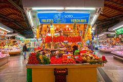 La Boqueria market, Barcelona, Spain. Stock Photography