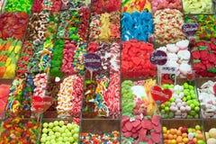 La Boqueria market in Barcelona - Spain Royalty Free Stock Photos