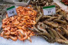 La Boqueria market in Barcelona - Spain Royalty Free Stock Images