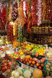 La Boqueria market in Barcelona - Spain Royalty Free Stock Image