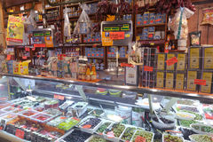 La Boqueria market in Barcelona - Spain Royalty Free Stock Photos