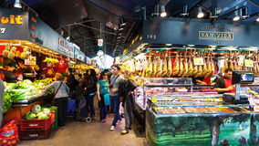 La Boqueria market Royalty Free Stock Photo