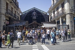 La Boqueria Market in Barcelona, Spain Royalty Free Stock Image