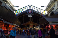 La Boqueria market entrance,Barcelona Royalty Free Stock Photography
