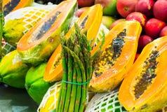 La Boqueria market with fruits in Barcelona Stock Photo