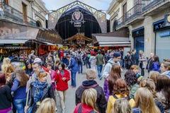 La Boqueria Markt Stockbild