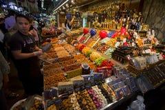 La Boqueria Markt in Barcelona Lizenzfreies Stockbild