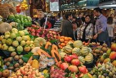 La Boqueria. The Mercat de Sant Josep de la Boqueria, simply referred to as La Boqueria is a public market in the Ciutat Vella district of Barcelona Royalty Free Stock Images