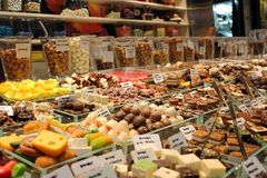 La Boqueria: Mercato II di Barcellona Fotografia Stock