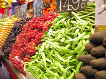 La Boqueria Produce Stand Royalty Free Stock Image