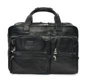 La borsa dell'uomo di colore su un fondo bianco Fotografie Stock