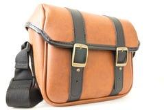 La borsa di cuoio marrone del messaggero Fotografia Stock Libera da Diritti