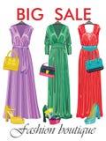 La borsa multicolore delle donne di modo Grande vendita Immagini Stock