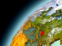 La Bosnia dall'orbita di Earth di modello Fotografia Stock Libera da Diritti