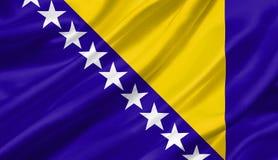 La Bosnia-Erzegovina inbandiera l'ondeggiamento con il vento, illustratio 3D fotografia stock libera da diritti