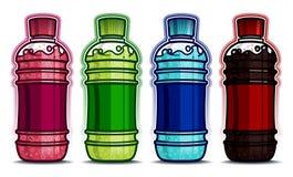 La bottiglia dell'animale domestico beve i sapori Immagine Stock