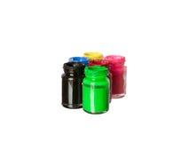 La bottiglia di colore di manifesto Fotografie Stock