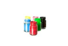 La bottiglia di colore di manifesto Immagine Stock