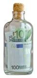 La bottiglia ha riempito di euro Fotografia Stock