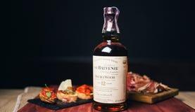 La bottiglia scozzese di Balvenie immagine stock