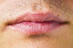 La bouche de l'homme Photographie stock libre de droits