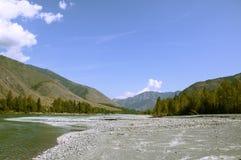 La bouche de la hâte de rivière de roche Images libres de droits