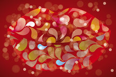 La Bouche - the mouth. Illustration of a mouth, created by colorful splashes - eps10 vectors royalty free illustration