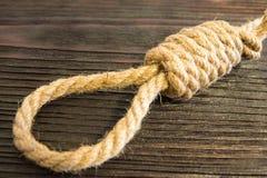 La boucle mortelle de la corde Dernières secondes de la vie Amour non récompensé Photographie stock libre de droits
