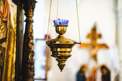 La bougie d'église pour la méditation et prient Photo libre de droits
