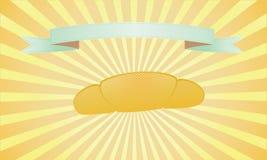 La boulangerie fraîche sur le jaune a éliminé le fond et la bande verte Images libres de droits