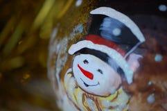 La boule en verre de fête de nouvelle année avec l'image photographie stock