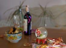 La boule en verre de nouvelle année Photo libre de droits