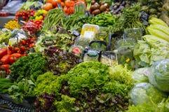 La Bouqueria Foodmarket à Barcelone Images stock