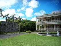 La Bourdonnais -历史的法国州长的家,毛里求斯 库存照片