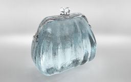 la bourse claire transparente de glace rendent Photographie stock libre de droits