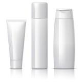 La bouteille cosmétique réaliste peut récipient de pulvérisateur Images stock