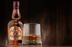 La bouteille de Chivas Regal 12 a mélangé le whisky écossais Photographie stock
