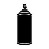 la bouteille de jet d'aérosol de silhouette peut icône illustration stock