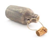 la bouteille vieille s'ouvrent Image libre de droits