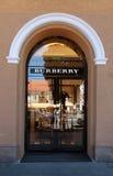 La boutique de Burberry à Vilnius, Lithuanie Images libres de droits