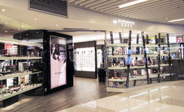 La boutique de Hong Kong Optic à Hong Kong Photo libre de droits