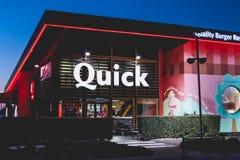 La boutique de la chaîne de restaurant s'est spécialisée en hamburgers Images stock